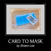 Cartão para mascarar por shawn lee truques mágicos cartão de poker desaparecer máscara aparecer adereços mágicos perto de rua palco magia adereços mentalismo