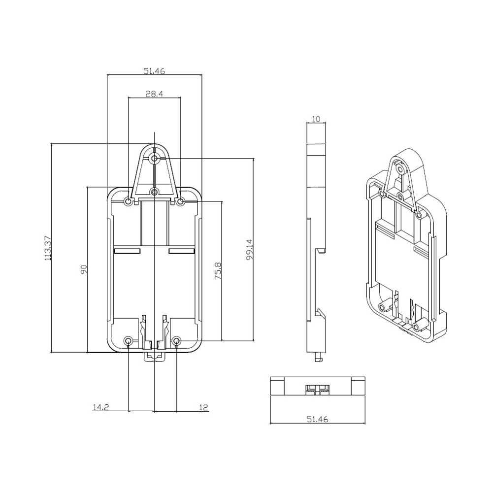 SONOFF ل الأساسية/RF/الأسرى/TH10/16/المزدوج Wifi مفتاح ذكي الدكتور الدين صينية السكك الحديدية حالة حامل شنت قابل للتعديل مربع غطاء المنزل اليكسا