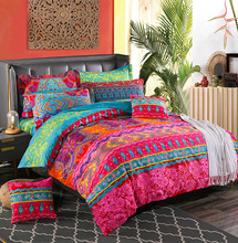 Bohemian Bedding Sets Winter Quilt Cover Mandala Duvet Cover Set National Style Pillowcase Queen King Size Bedding Set
