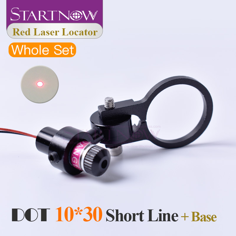 Set 10*30s 650nm Laser Module Laser Red Locator Dot Beam With Mount For Marking Machine Alignment Laser Positioning Accessories