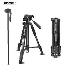 ZOMEI Tripod Q222 Monopod Camera Stand Multi-function Flexible Professional Tripod for Travel Smartphone Camera DSLR Projector