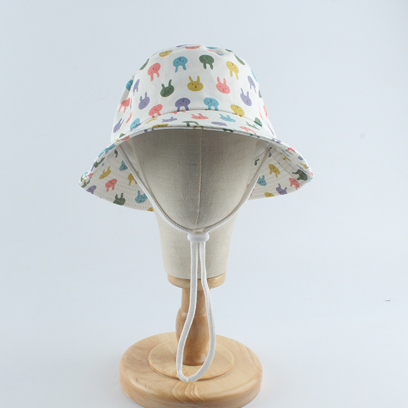 UV Protection Summer Baby Sun Hat Panama Kids Bucket Hat Cartoon Infant Toddler Cap Boys Girls Beach Hat