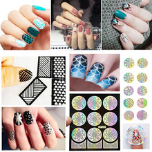 Water Decals Transfer Stickers Mode Watermark Nail Folies Papier Nail Sticker Voor Nail Art Decoraties Manicure Accessoires(China)