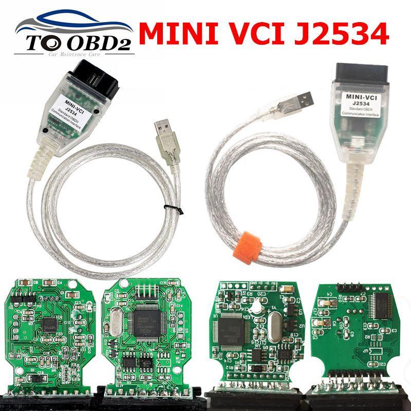 OBD2 Diagnostic TooL FTDI Chip V14.20.019 Mini-VCI J2534 Interface Mini VCI USB Cable For Toyota TIS Techstream FTDI CHIP