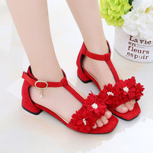 2020 High-heeled Girls' Sandals Princess Shoes Patent Protection Safe Girls Beach Shoes Kids Casual Sandals(China)