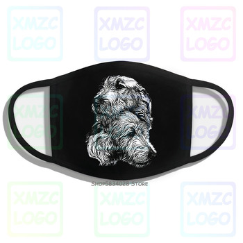 Hot Selling 100 Cotton Oneck Short Irish Wolfhound Pair White Mask 100 Cotton Mask White 100 Co image