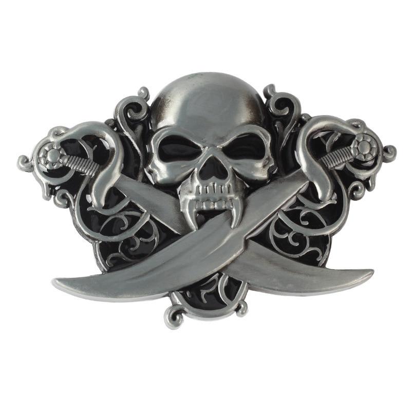 Skull skeleton demon belt buckle Belt DIY accessories Western cowboy style Smooth belt buckle Punk rock style k22