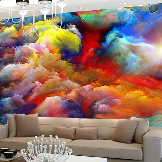 us 8 64 52 off custom 3d abstract mural wallpaper photo murals clouds tv living room background wall art decor multicolour clouds wall paper in