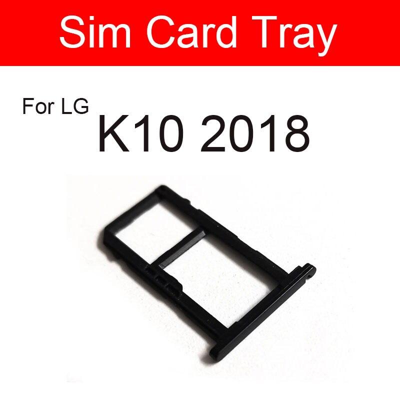 Лоток со слотом для сим-карты держатель для LG K10 2018 K102018 Sim SD Memory карта адаптер гибкий кабель сотовый телефон запасные части для ремонта