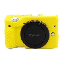 FOTOFLY сумки для камеры Canon EOS M3 Мягкий силиконовый чехол цветной резиновый чехол s для Canon eos m 3 защитный корпус аксессуары