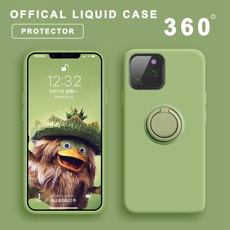 Liquid <font><b>Case</b></font> For <font><b>iPhone</b></font> 11 Pro <font><b>XS</b></font> Max <font><b>Case</b></font> <font><b>Original</b></font> Silicone Car Holder 360 Cover For Apple <font><b>iPhone</b></font> 7 8 6 6S Plus <font><b>X</b></font> XR Coque Funda image