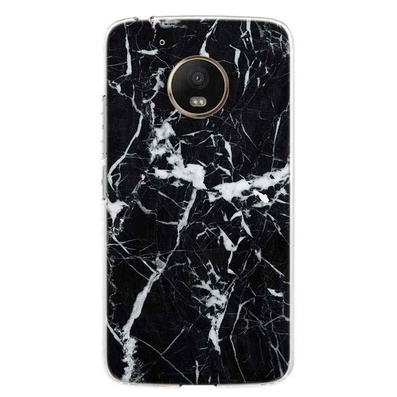الرخام الأبيض يترك غطاء الهاتف جراب لهاتف Motorola موتو G8 G7 G6 G5S G5 E6 E5 E4 زائد G4 اللعب الاتحاد الأوروبي عمل واحد X4 نمط Coque