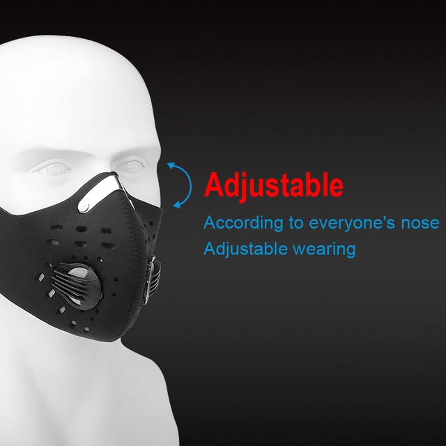 2020 Sports Mask Mouth Masks Sport Cycling Face Mask Pollution Filters PM2.5 Mascarillas Dust Mascherine Mascaras Mascarilla 2