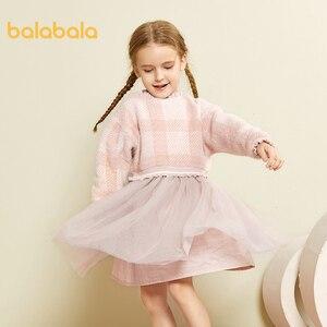 Image 5 - Balabala Mädchen kleider 2020 neue herbst und winter kleidung kinder prinzessin kleid casual kleid pullover rock