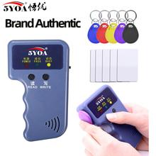 Handheld 125KHz Read EM4100 TK4100 RFID Copier Writer Duplicator Programmer Reader EM4305 T5577 Rewritable ID Keyfobs Tags cheap EM4100 TK4100 etc Card Tag EM4305 CET5557 T5577 5200 EM4205 card tag 3V (2 x AAA battery) 5YOA IDW01 CN(Origin)