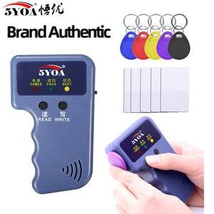 Handheld 125KHz Read EM4100 TK4100 RFID Copier Writer Duplicator Programmer Reader EM4305 T5577 Rewritable ID Keyfobs Tags