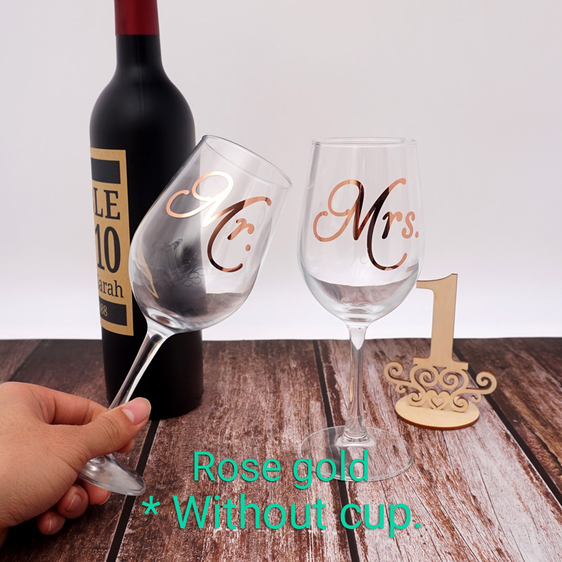 5 pairs Wine Glass Mr. Mrs Labels Wedding Party Self-adhesive Champagne Decals Decaration Sticker Holiday Party Event Favors