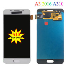 4.7'' SUPER AMOLED For SAMSUNG Galaxy A3 2016 A310 A310F A3100 LCD Display Touch Screen LCD Digitizer Assembly Replacement Parts(China)