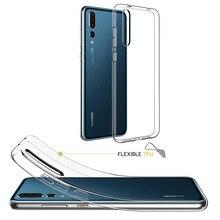 Ультра тонкие мягкие силиконовые прозрачные чехол для huawei P30 mate 20 Pro P20 Lite Crystal Cover для iPhone 11 Pro X XS Max 8 7