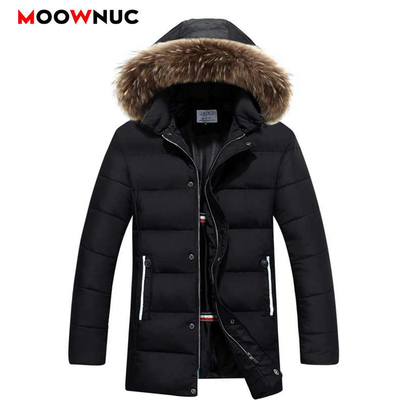 Parkas Hombre Coats Winter Warm Business Casual Fashion Windbreaker Overcoat Jackets Thick Windproof Men's Parkas Fit Brand