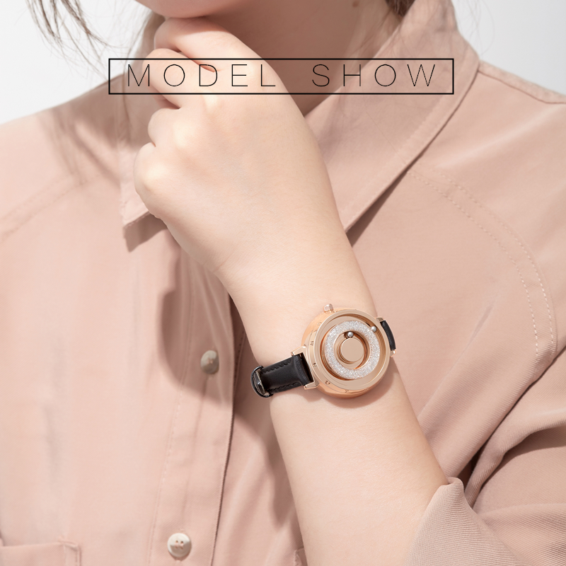 Eutour new original magnetic black gold trend women's watch female student quartz temperament fashion real belt stainless steel