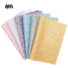 AHB Shiny Glitter Leather Sheets Geometric Sequins Chunky Faux Wedding Decor DIY Bags Bows Handmade Materials