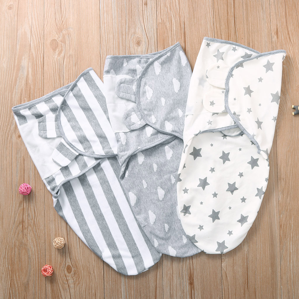Newborn Baby Wrap Soft Swaddling Diaper Star Striped Toddler Swaddleme Organic Cotton Infant Girl Turban Sleepping Bag Sleepsack