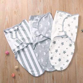 Newborn Baby Wrap Soft Swaddling Diaper Star Striped Toddler Swaddleme Organic Cotton Infant Girl Turban Sleepping Bag Sleepsack Newborn (0-3 months) Nursery Shop by Age Swaddle Wraps