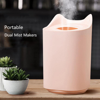 3.0L Dual Mist Ultrasonic Aroma Diffuser USB Air Humidifier with LED Lights Maker Mini Home Purifier - discount item  49% OFF Household Appliances