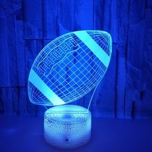 3d Football LED Night Light Remote And  Touch Control 7Color  Changing Lighting Lamp For Kids Gifts Home Accessories