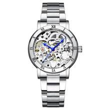 IK reloj mecánico automático para mujer, de acero completo, esqueleto hueco, femenino, 2020