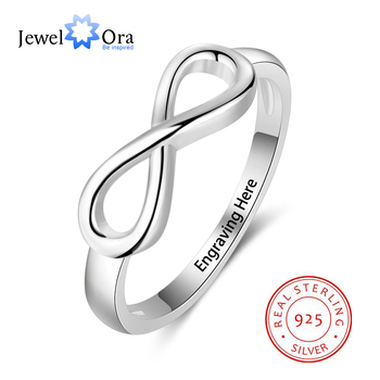 925 Sterling Silver Infinity Love Knot Rings for Women Customized Personalized Engrave Name Promise Ring Gift(JewelOra RI101995) uny ring 925 sterling silver mother customized engrave rings family heirloom ring anniversary personalized love birthstone rings