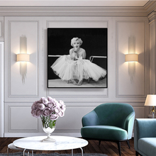 Marilyn Monroe Wall Pictures for Living Room Movie Posters and Prints Wall Art Canvas Painting Home Decor Black White Figure predator movie figure artwork posters and prints wall art decorative picture canvas painting for living room home decor unframed