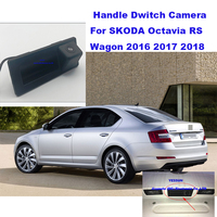 Yessun Car Trunk Handle camera Back Door Handle Rear View Parking Backup Camera HD For SKODA Octavia RS Wagon 2016 ~ 2018