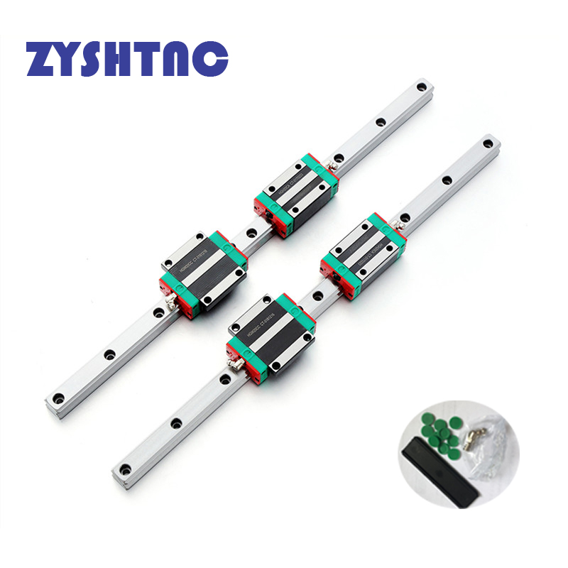 HGR20 HGH20 Square linear guides 2000mm 2050mm 2100mm+4pc Slide Block Carriages bearing HGH20CA CNC Router Engraving