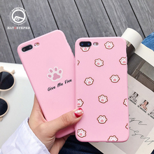 For Iphone 7 8 Plus 6s Super Cute Cartoon Cat Paw Phone Case IPhone X XS 6 6S Soft Silicone Pink Cover