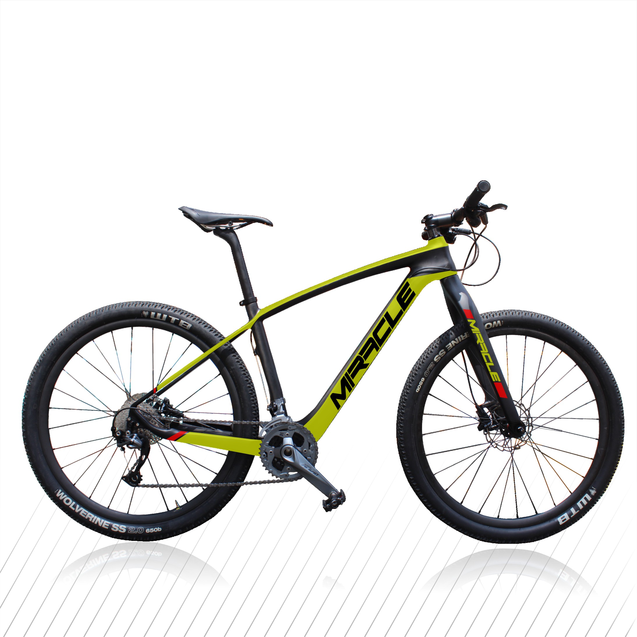 29er mountain Full Carbon Bike MIRACLE brand perfect painting MTB carbon bicycle image