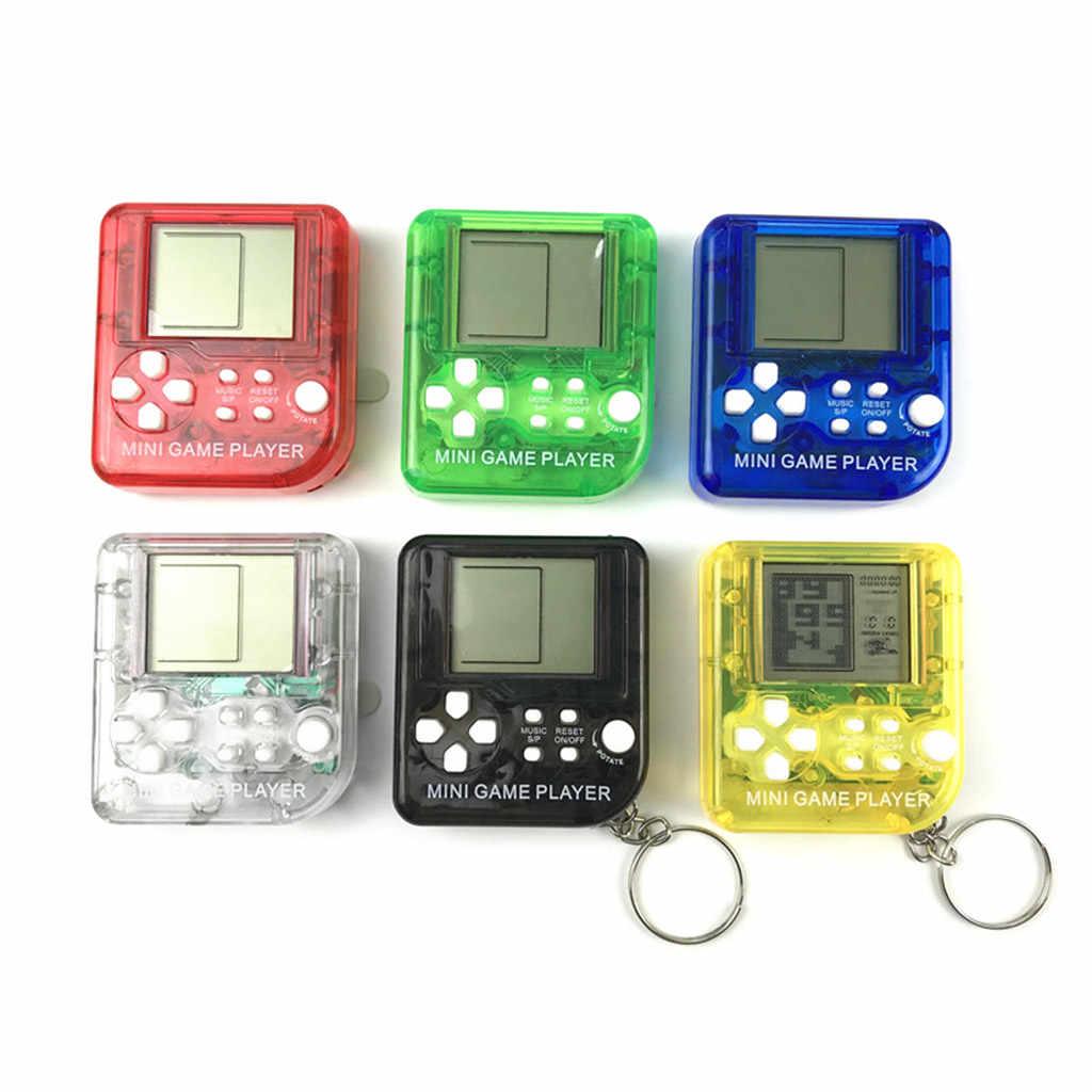 Novo edc 26in1 tetris portátil handheld game console brinquedos anti-stress chaveiro