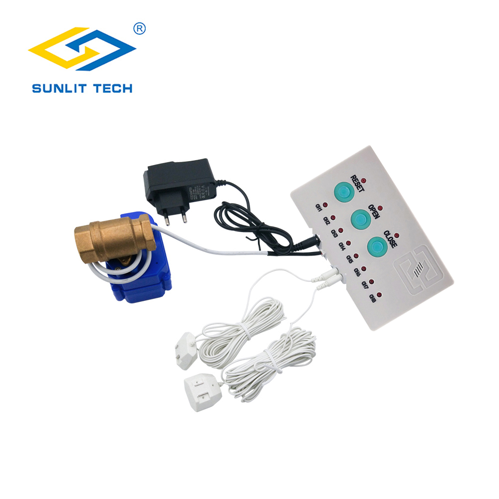 WLD-808 Smart Home Water Leak Sensor With 1pc Valve And 2pcs Water Cables Flood Water Leakage Detecting Overflow Alarm Detector