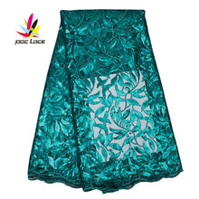 Sequins Factory in Dubai Silk Embroidered Blouse Mesh Lace Latest African Wedding Flower Girl Dresses Applique AMY2561B flower lace panel blouse