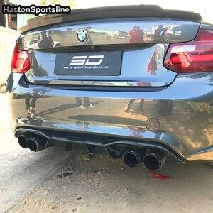 Image 5 - Lame de pare choc arrière en Fiber de carbone, accessoire de voiture, BMW Style F87 M2 M2C 2014 2018