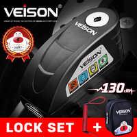 VEISON Waterproof Motorcycle Alarm Motorcycle Lock Steel Disc Lock Security Anti Theft Bike Lock Moto Alarm Disc brake lock #