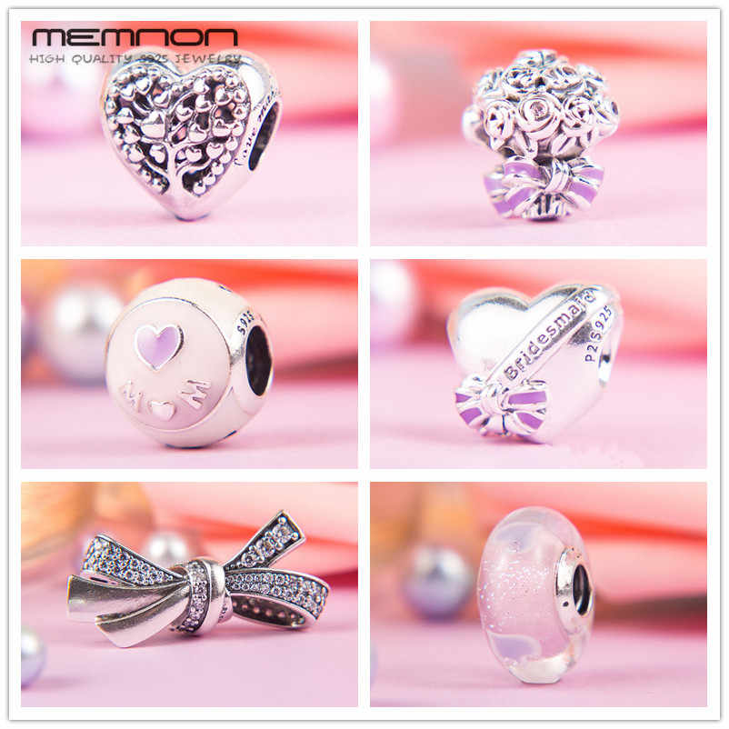 Memnon, коллекция на день матери, любовь, мама, лучшие подвески для подружки невесты, серебро 925 пробы, бусины в виде сердечек, подходят для браслетов, сделай сам, подарок для мамы