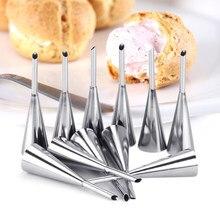 Sopro bico ponta confeitaria bolo de aço inoxidável cupcake puffs injeção ferramenta equipamentos confeitaria seringa confeiteiro
