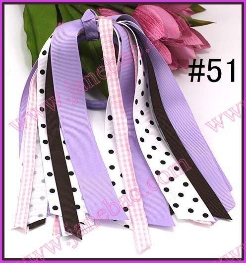 90 шт конский хвост о волосы бант конский хвост стримеры смешанные цвета шевронная лента заколки для волос для девочек банты для волос