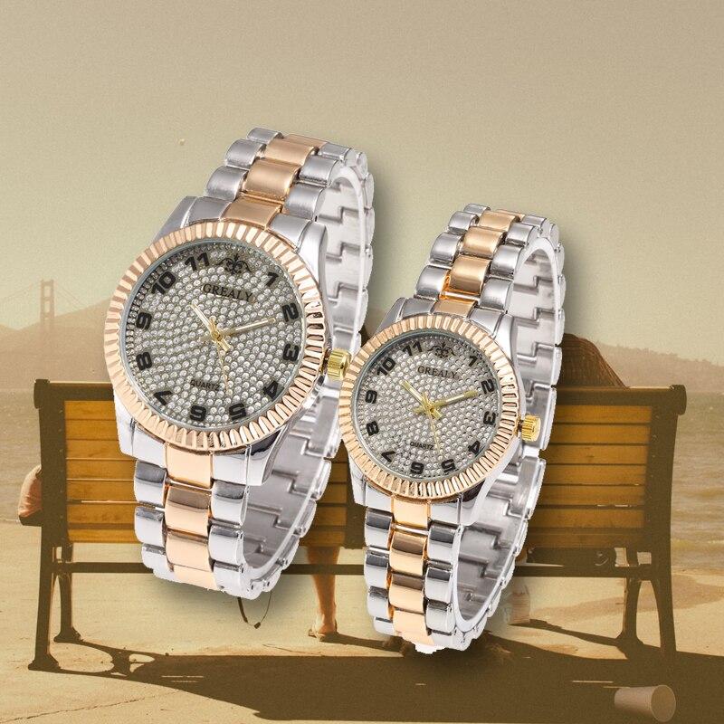 Lovers Wristwatch Montres Femme Stainless Steel Retro Dial Couple Watches Fashion Women Man Luxury Quartz Female Ladies Watch
