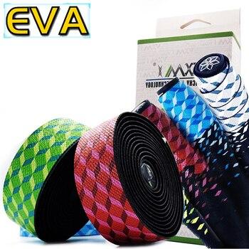 VXM 3 色自転車ハンドルテープスターフェードレースバイクバーテープサイクリングロードバイク防水 EVA テープラップ