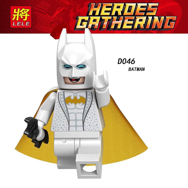 Single Hot Sale Compatible With LegoINGlys Figures Enlighten Assembled Batman Bricks Building Model Diy Toys Baby Gift D046