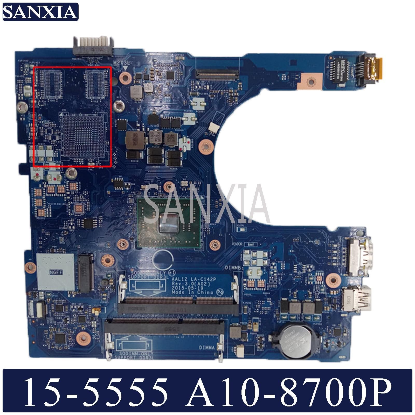 KEFU LA-C142P Laptop Motherboard For Dell Inspiron 15-5555 14-5455 Original Mainboard A10-8700P