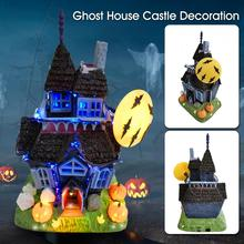 Halloween House Decoration Spooky Haunted Castle Bat Pumpkin Sound and Flashing Light Toy